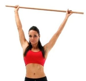 Pole Exercise for Shoulder