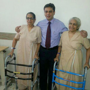 Dr. Rajani with Patients